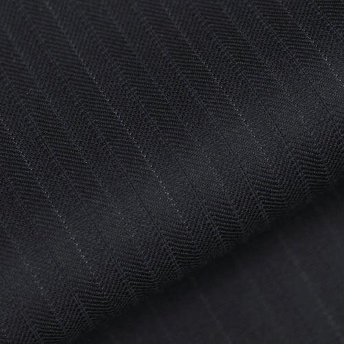 cloth by Ermenegildo Zegna three piece suit with wide, woven stripe [ELECTA], [winter] [Dark Navy]