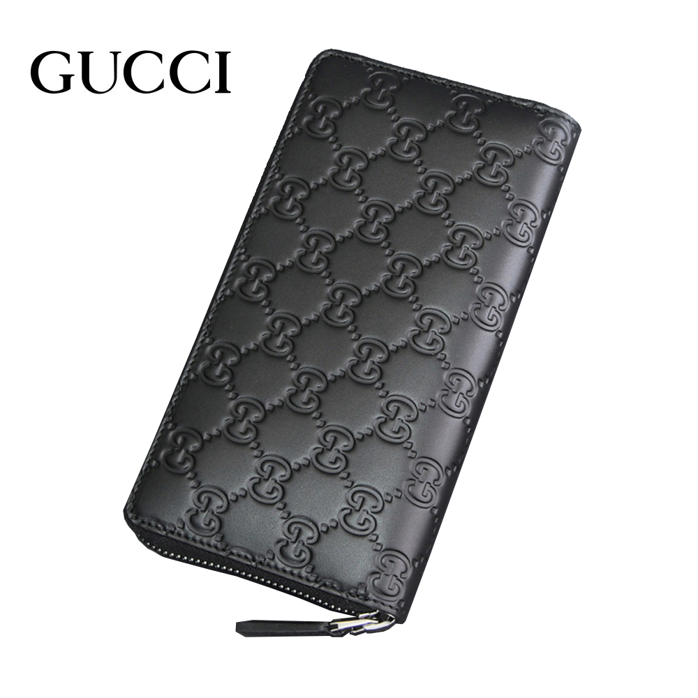 1e14f7a12c74ed Gucci wallet GUCCI 307987 black GUCCISSIMA Gucci sima leather round  fastener long wallet men brand constant ...