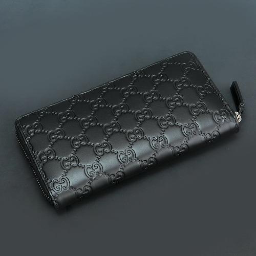 fc6034f0482d76 ... Gucci wallet GUCCI 307987 black GUCCISSIMA Gucci sima leather round  fastener long wallet men brand constant ...