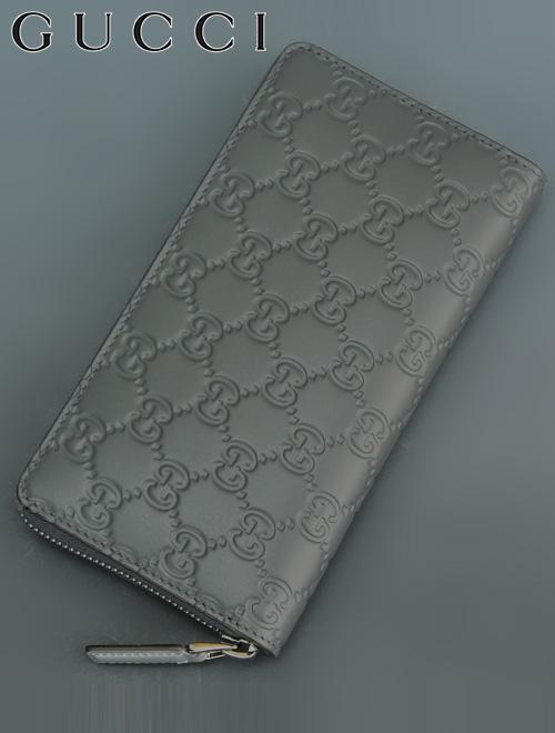 グッチ  GUCCI 307987-cwc1r-1217 グレー グッチシマ 型押し 長財布 ジップアラウンドウォレット
