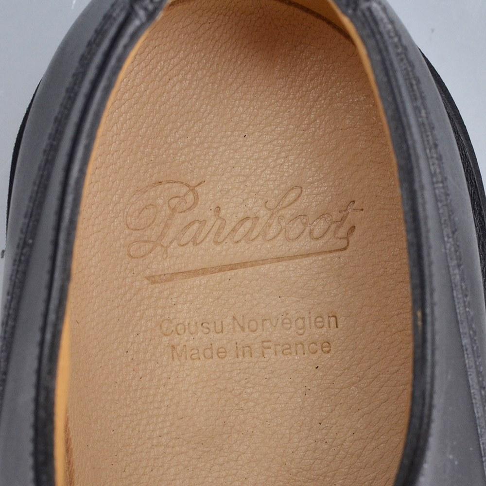 파랑 새 부츠 샨 보드 CHAMBORD PARABOOT [네이 비] [샨 판] [CHAMBORD] 클래식 슈즈가 세계 전반 평가를 얻은 이름 신발 U 칩 및 기름 드 가죽 신발