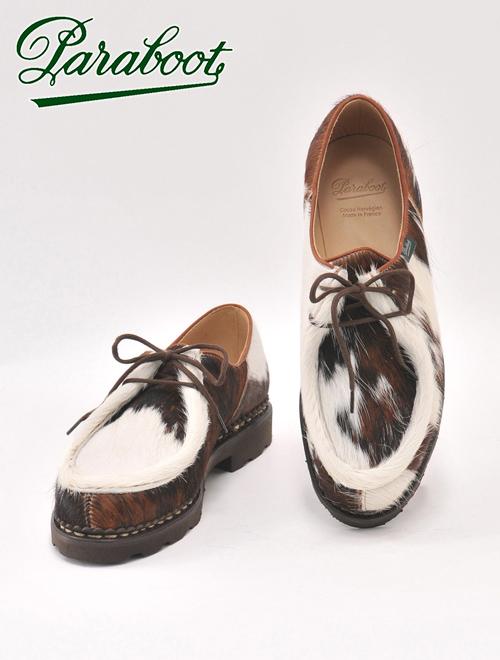 パラブーツ  PARABOOT ミカエル MICHAEL チロリアンシューズ メンズ ブーツ POILS VASHE 牝牛 ハラコ ヴァシュヘアーアハラコ風 国内正規品 でらでら 公式ブランド