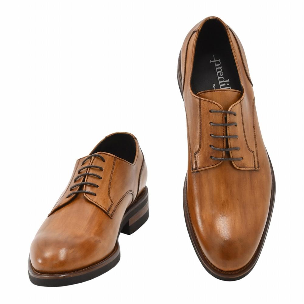 プレディビーノ  Predibino メンズドレスシューズ 外羽根 チェストナットブラウン KEVINケビンラスト イタリア製 ラバーソール ビジネス靴