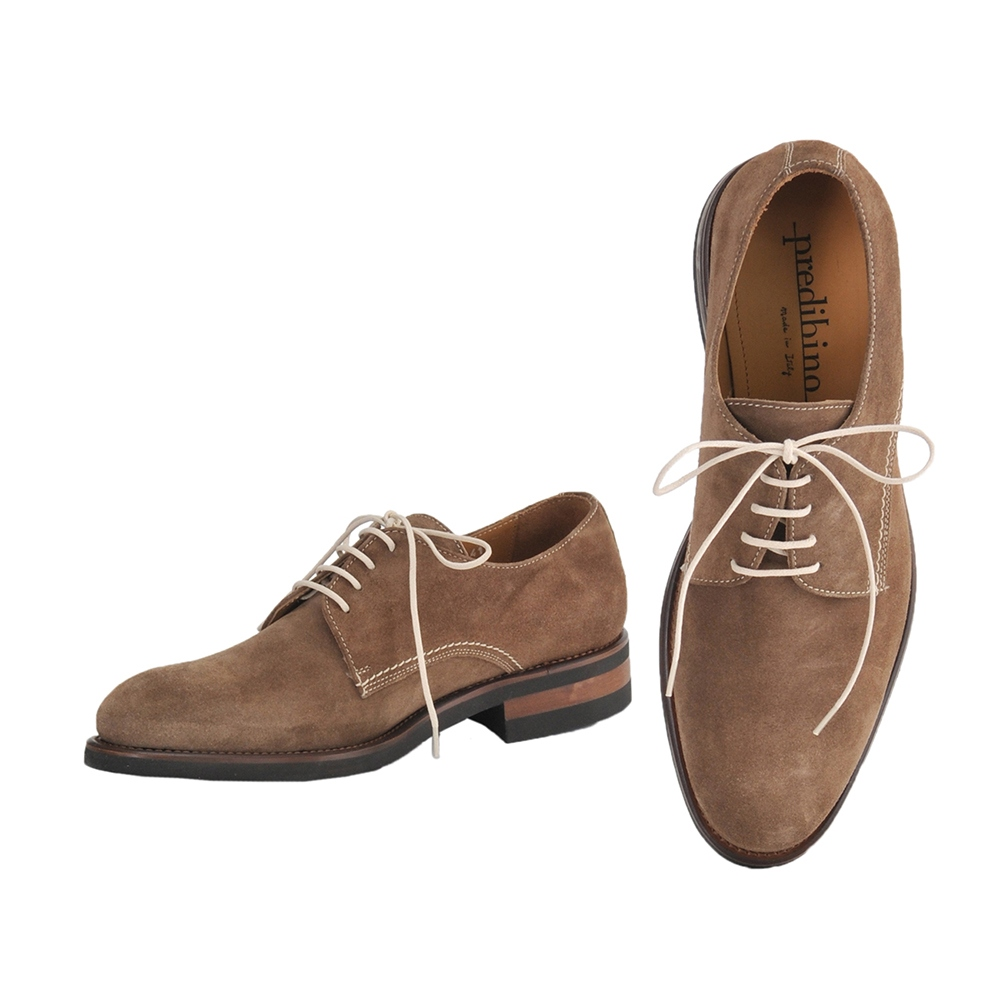 e40f9eb7b7a4 プレディビーノ Predibino men dress shoes feather スエードベロアレザートープベージュ KEVIN Kevin  last Italy rubber sole out of 9893-taupe