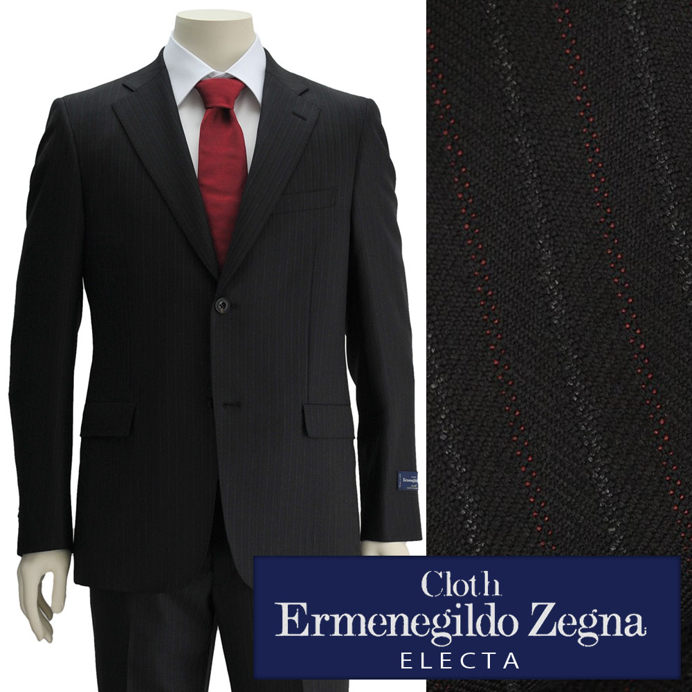 08daeee5 Ermenegildo Zegna Zegna men suit ELECTA エレクタブラック & red & white three colors  stripe wool two button single 18/19 fall and winter