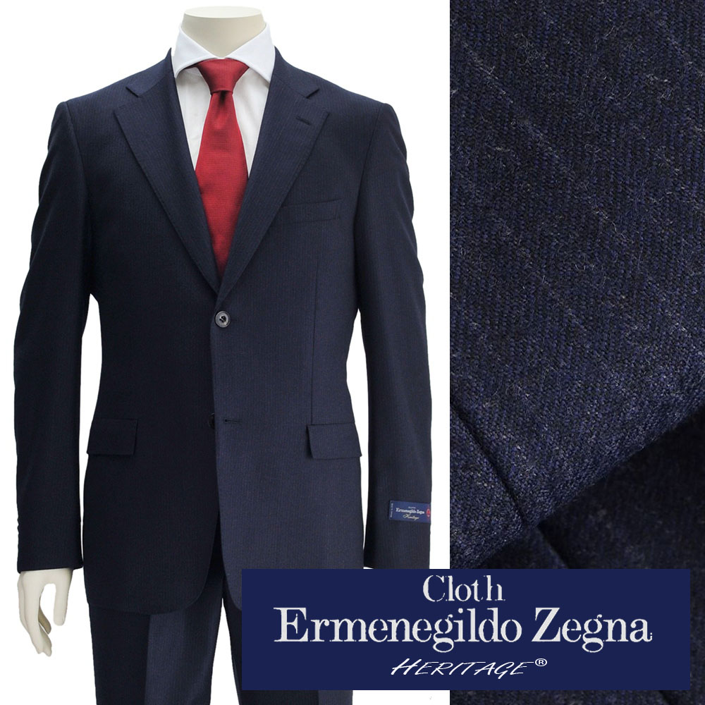2becb953 Ermenegildo Zegna Zegna men suit heritage HERITAGE blue-collar wool jacket  shadow stripe two button single 18/19 fall and winter