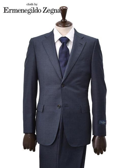 エルメネジルドゼニア  cloth by Ermenegildo Zegna メンズスーツ TRAVELLER トラベラーウール ネイビーチェック ジャケット スラックス スリム 2つボタンシングル 秋冬 でらでら 公式ブランド