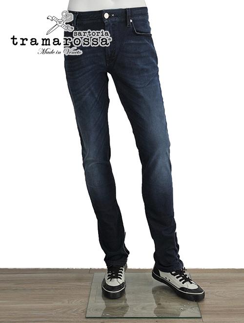 トラマロッサ  TRAMAROSSA レオナルド V5-96(V5-131同品番)インディゴウォッシュ 紺ステッチ STピンズ付属 LEONARDO スーパーストレッチコットン ジップフライジーンズ メンズ
