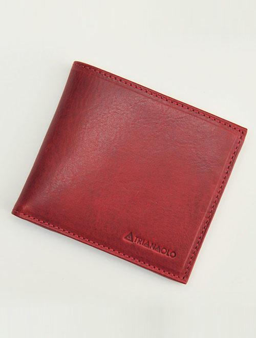 トリアンゴロ  TRIANGOLO レッド 紙幣スペース2室ジャパンマネータイプ 二つ折り財布 イタリア製レザーウォレット 国内正規品 メンズ レディース