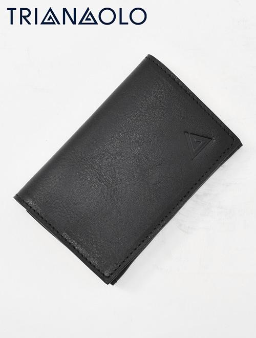 【クリアランス開催中】トリアンゴロ  国内正規品 TRIANGOLO イタリア製レザー名刺入れ ブラック 黒革製カードケース 工房 ブランド 男女兼用