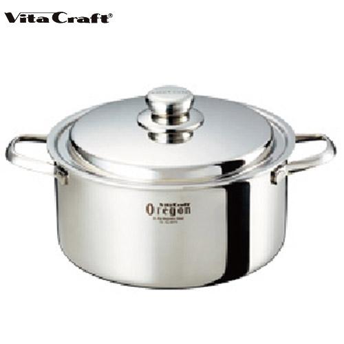 (10年保証付) (ビタクラフト) Vita Craft オレゴン 両手鍋 24cm No.8673 通販
