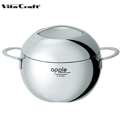 (10年保証付) (ご購入で特典プレゼント) ビタクラフト アップル 両手鍋 3.6L No.2754 Vita Craft 通販