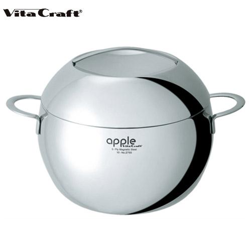 【あす楽】(10年保証付) (ご購入で特典プレゼント) Vita Craft ビタクラフト アップル 両手鍋 6.6L No.2755 通販 (mz)(cp)