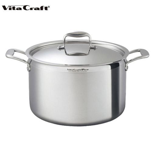 ビタクラフト Vita Craft プロ 半寸胴鍋 14.2L No.0225 通販