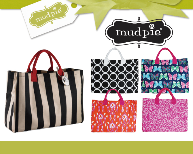 The Mud Pie Mad Black And Sand Stripe Essential Tote Canvas Bag Size Grain