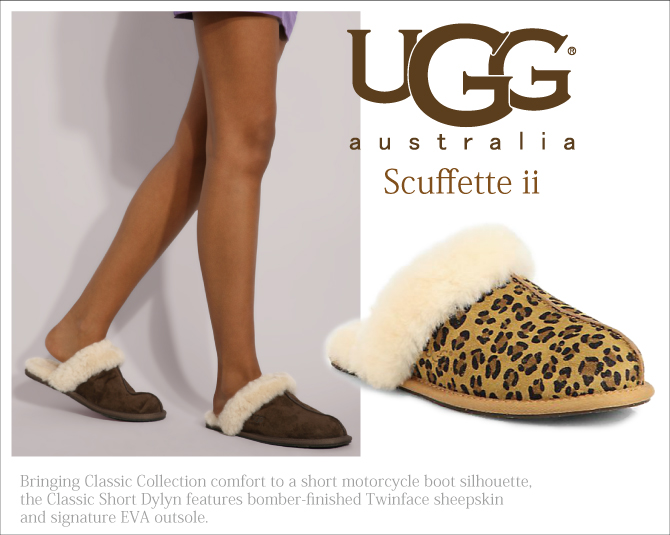 Slippers Ugg Shoes Room W Scuffette Ii Leopard スカフェット 2 Print Number 1003227