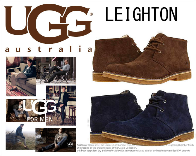 UGG UGG LEIGHTON SUEDE MENS Layton suede boots mens 2 types with Orthotics