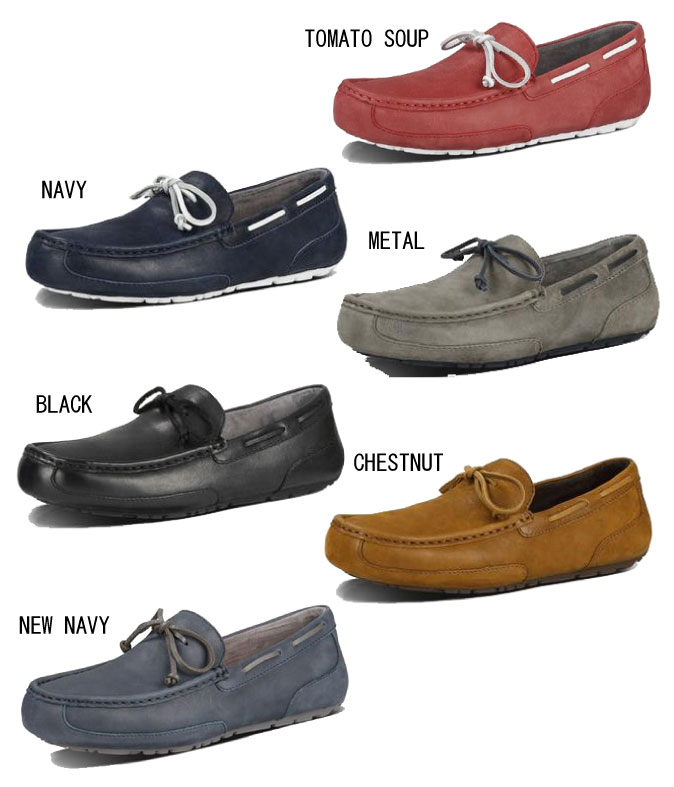 1e35f3a60ae A UGG アグ CHESTER LEATHER MENS Chester leather men moccasins shoes slip-ons  mouton shoes model number: 1004247