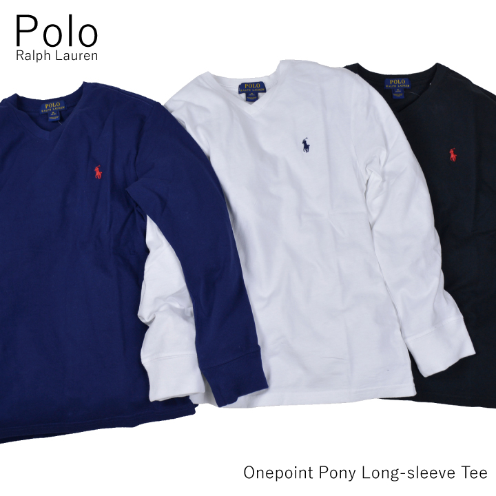 a0c7842ac859 Ralph Lauren Ron T POLO RALPH LAUREN KIDS one point V neck long sleeve T  shirt