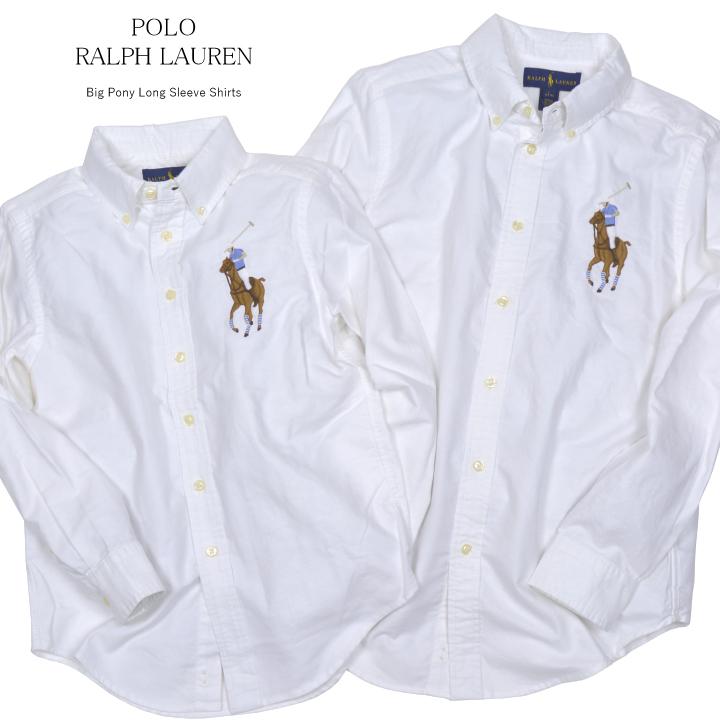 Cotton Kids Oxford Polo Big Shirt Ralph White Pony Lauren OnkP80w