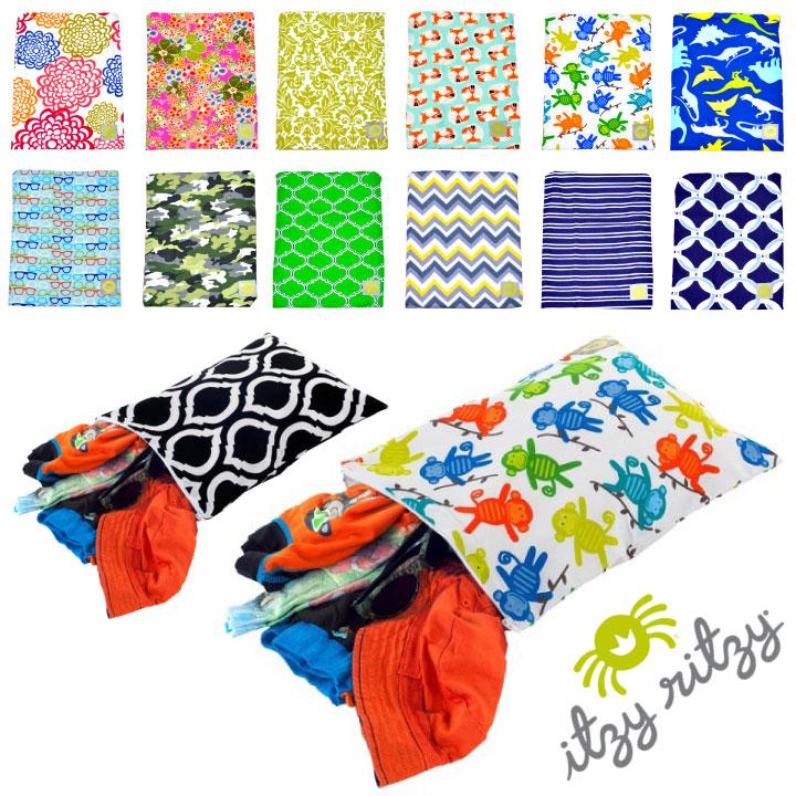 Itzy Ritzy Wet Bag Diaper Put Glove Swimwear Travel The Birth Celebration Izzie Lizzie Sealed