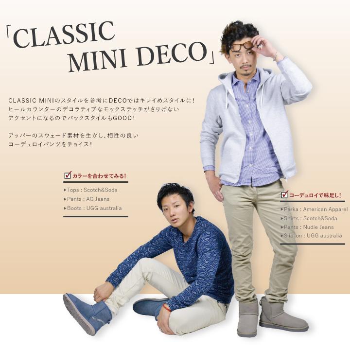 ec680c6d570 UGG UGG men's boots Sheepskin Boots Classic mini Deco CLASSIC MINI DECO MENS