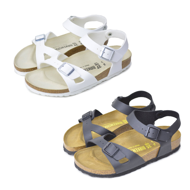 7260bc79e242 Birkenstock Rio white vircoflow BIRKENSTOCK RIO Birko Flor black birken  Sandals comfort Sandals 031733