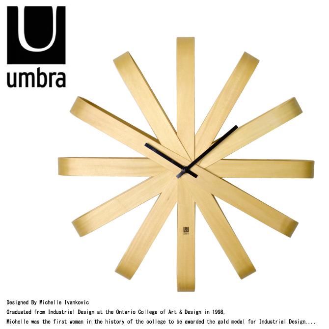 DEROQUE | Rakuten Global Market: UMBRA-Umbra RIBBON WOOD WALL CLOCK ...