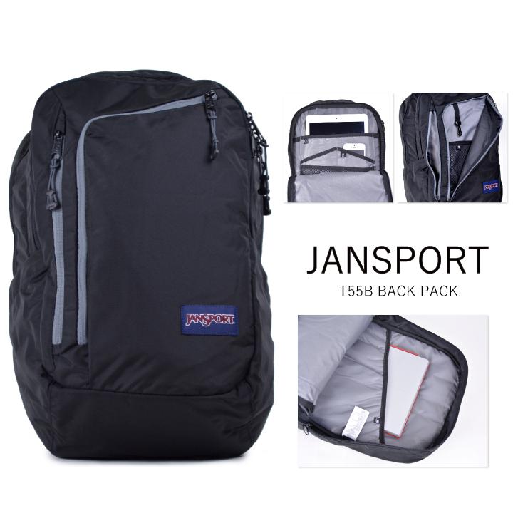 JANSPORT JanSport backpack PLATFORM T55B platform black rucksack backpack