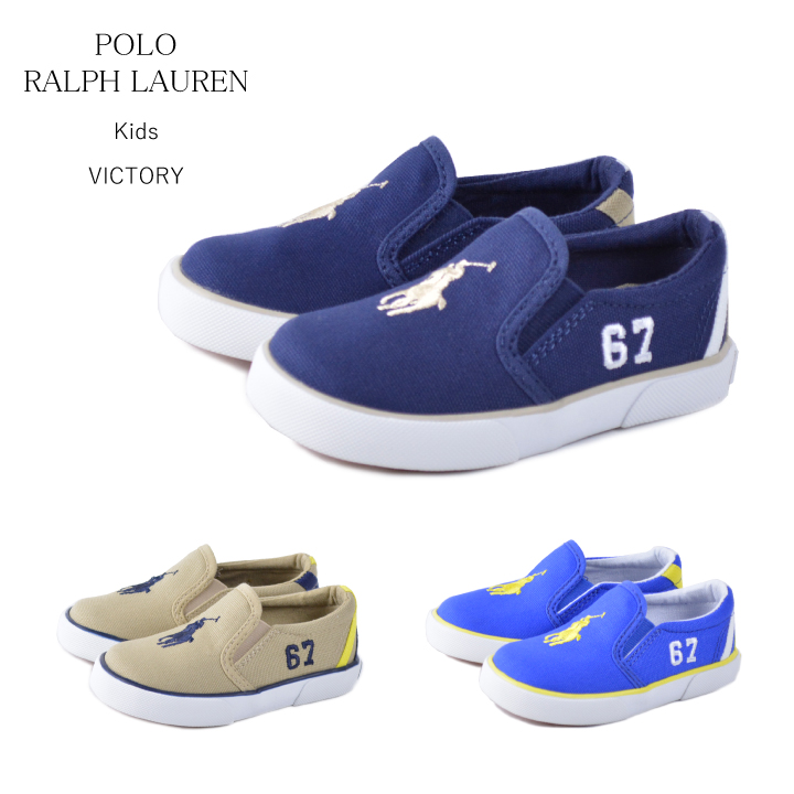 4bdb63d01912 Polo Ralph Lauren polo ralph lauren kids shoes kids sneakers slip-ons  VICTORY ...
