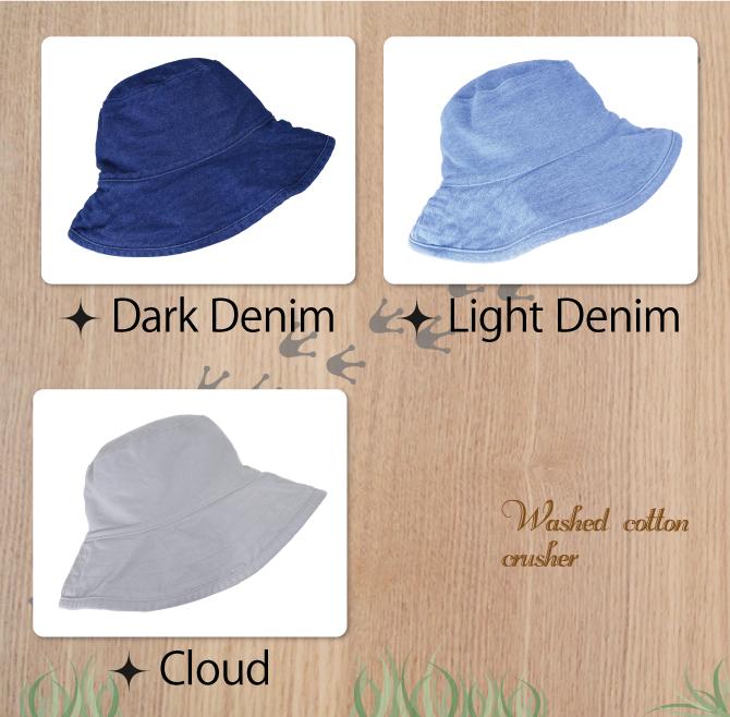 HAT ATTACK 하트 어택 WASHED COTTON CRUSHER HATATTACK 선물 UV 가기 방지 모자 차양