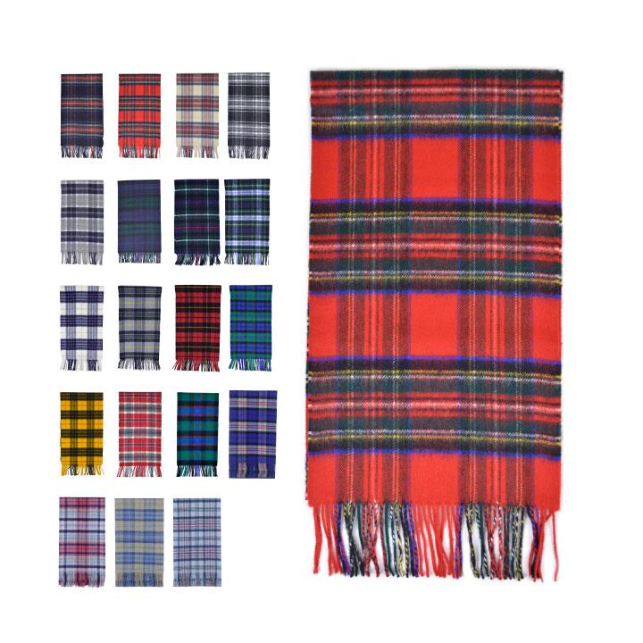 埃尔金 Johnstons 羊绒围巾围巾女装男装在密封检查围巾 WA000016 Johnstons 羊绒格子披肩