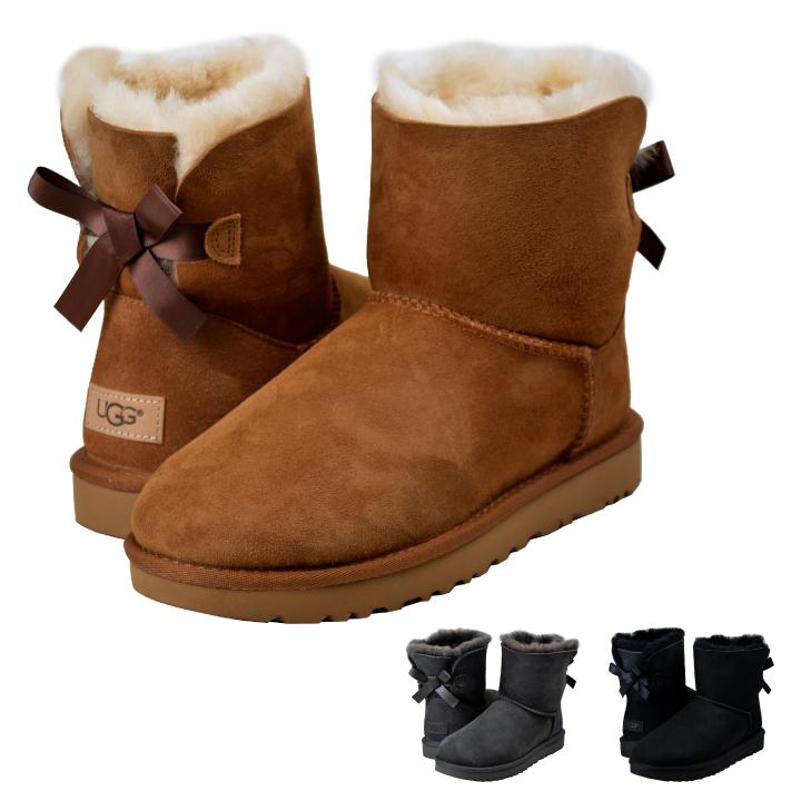 Genuine UGG UGG BAILEY BOW MINI mini Bailey bow Sheepskin boots Sheepskin boots shipping