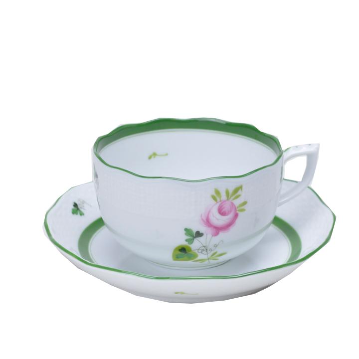 ヘレンド ティーカップ&ソーサー ウイーン の 薔薇 HEREND VIEILLE ROSE DHABSBOURG 200ml 00724000   [cup] [gift set]