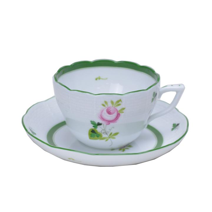 ヘレンド ティーカップ&ソーサー ウイーン の 薔薇 HEREND VIEILLE ROSE DHABSBOURG 200ml 00730000 [cup] [gift set]