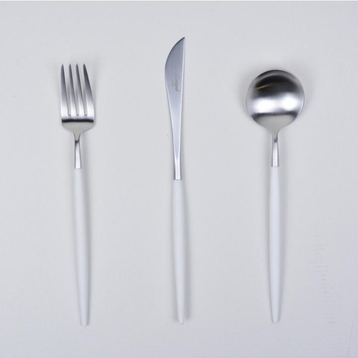 クチポール ゴア デザート カトラリーセット ホワイト 3点セット Cutipol GOA WHITE Cutlery Set [gift set]