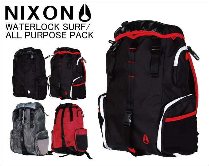 NIXON 닉슨 WATERLOCK SURF/ALL PURPOSE PACK 배낭 배낭 가방 백 야외 black 블랙 쇼핑몰 라쿠텐 bag
