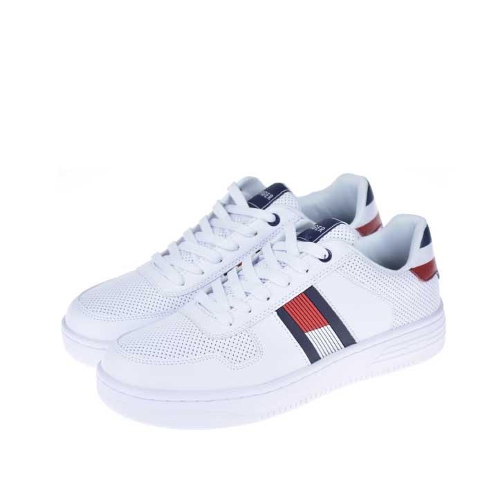 【5%還元!】Tommy hilfiger トミーヒルフィガー /Fallop メンズ スニーカー ホワイト アイコン シューズ 靴 送料無料