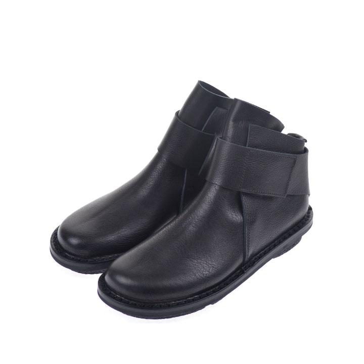 【5%還元!】TRIPPEN トリッペン Base F waw レザー ショートブーツ ブラック 牛革 レディース