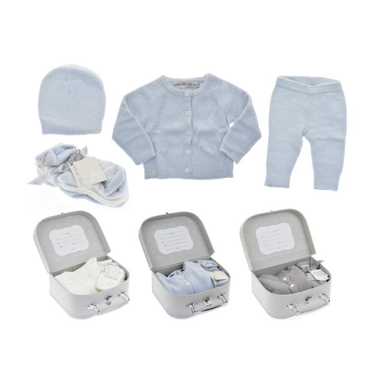 BAREFOOT DREAMS/ ベアフットドリームス CozyChic Lite Classic Newborn Set B477-103-NB 男の子 女の子 赤ちゃん ベビー服 セット 出産祝い 新築祝い ギフト 贈り物