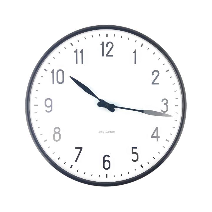 掛け時計 Station おしゃれ clock ウォールクロック ヤコブセン 43643 29cm プレゼント Wall 北欧デザイン ステーション アルネ ARNE インテリア JACOBSEN