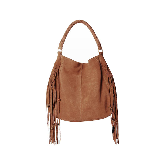 Genuine Leather Bag Lady Linea Pelle リネアペレ Bo Hobo Fringe Tote S Rial Studs