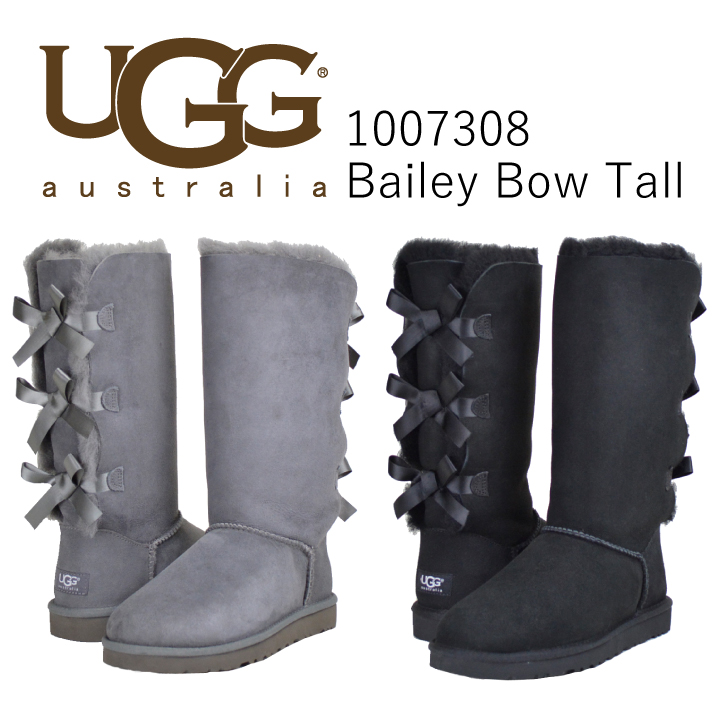 Ugg boots Womens Sheepskin boots knee high boots long Mouton boots UGG Bailey Bow Tall 1007308