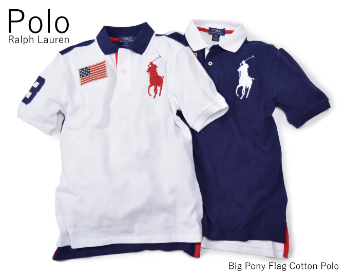 Kids Lauren Polo Pony Shirt Ralph Flag Cotton ' Big Y76vmgIfby
