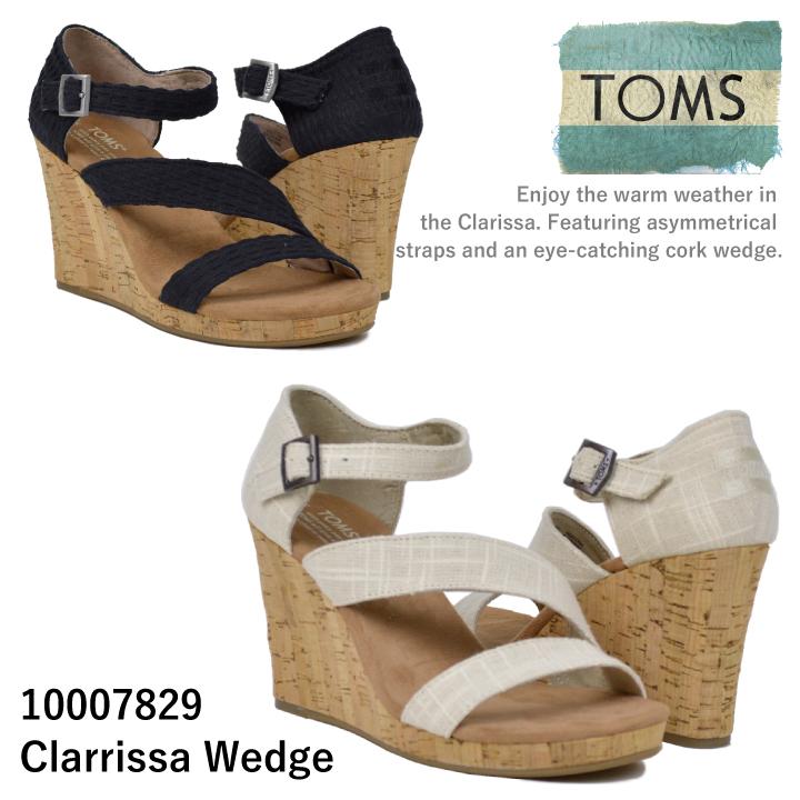 【5%還元!】TOMS shoes トムズ シューズClarrissa Wedge ウェッジソール 【西日本】