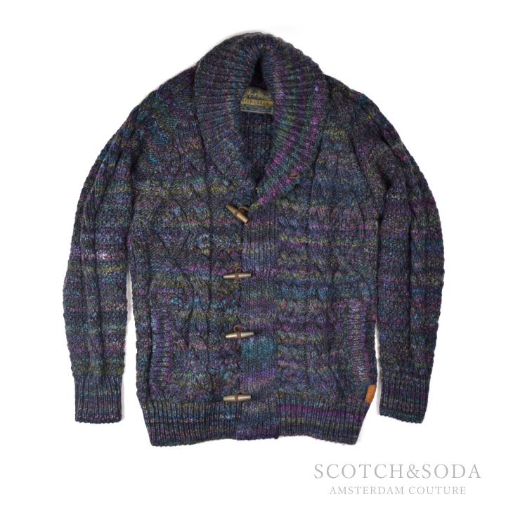 スコッチ&ソーダ トッグルボタン ローゲージニット カーディガン SC60053 Toggle ButtonedLow Gauge Knit Cardigan 【西日本】