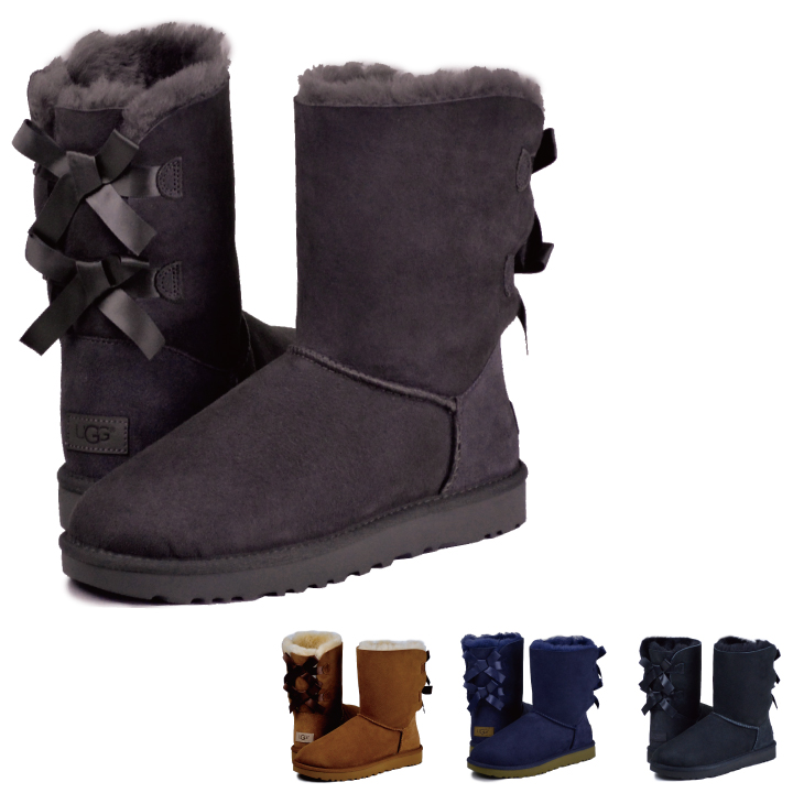 ugg boots with 2 bows