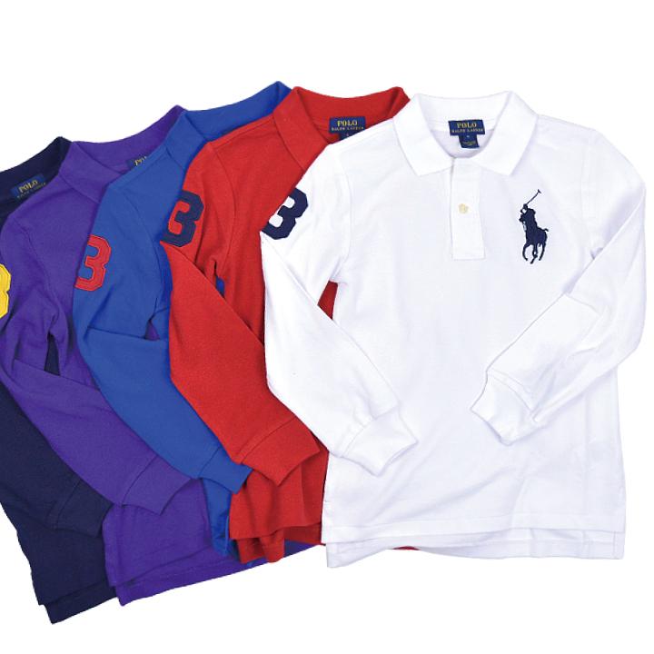 Ralph Lauren kids clothes kids junior big pony long sleeve polo shirt POLO  RALPH LAUREN BOYS BIG PONY 322614046