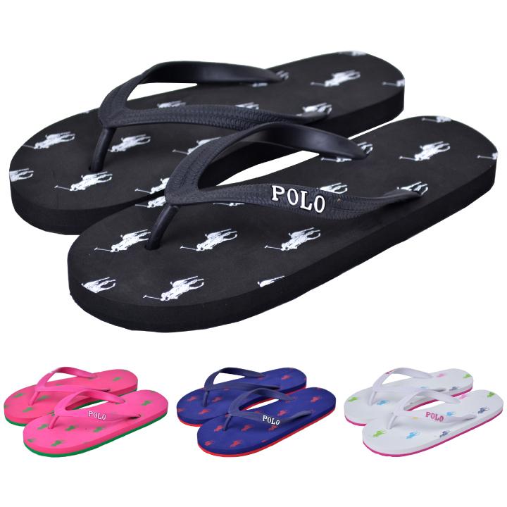 03ee23400a8d DEROQUE due  Polo Ralph Lauren kids Lady s sandals beach sandal POLO ...