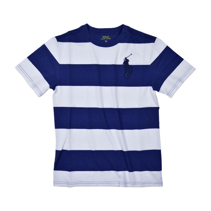 Ralph Lauren big pony T-shirt men horizontal stripe POLO RALPH LAUREN BIG  PONY STRIPE TEE 323657830